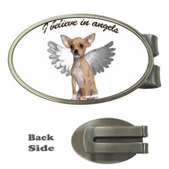 Angel Chihuahua Money Clips (oval)  by Valentinaart