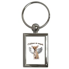 Angel Chihuahua Key Chains (rectangle)  by Valentinaart