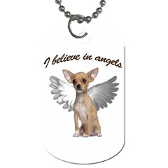 Angel Chihuahua Dog Tag (one Side) by Valentinaart