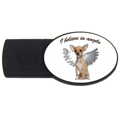 Angel Chihuahua Usb Flash Drive Oval (2 Gb) by Valentinaart
