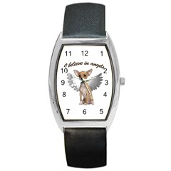 Angel Chihuahua Barrel Style Metal Watch by Valentinaart