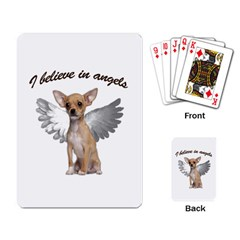 Angel Chihuahua Playing Card by Valentinaart