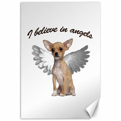 Angel Chihuahua Canvas 12  X 18   by Valentinaart