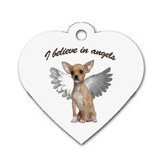 Angel Chihuahua Dog Tag Heart (one Side) by Valentinaart