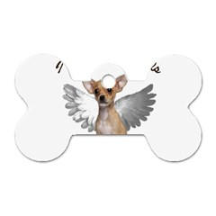 Angel Chihuahua Dog Tag Bone (two Sides) by Valentinaart