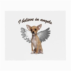Angel Chihuahua Small Glasses Cloth (2 Side) by Valentinaart