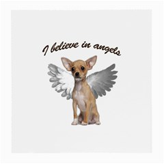 Angel Chihuahua Medium Glasses Cloth (2 Side) by Valentinaart