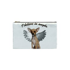 Angel Chihuahua Cosmetic Bag (small)  by Valentinaart