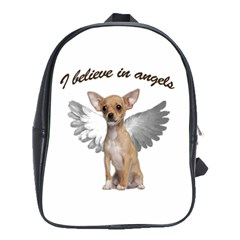 Angel Chihuahua School Bags(large)  by Valentinaart