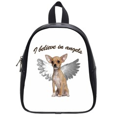 Angel Chihuahua School Bags (small)  by Valentinaart