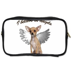 Angel Chihuahua Toiletries Bags 2 Side by Valentinaart
