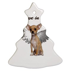Angel Chihuahua Christmas Tree Ornament (two Sides) by Valentinaart