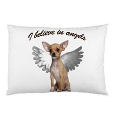 Angel Chihuahua Pillow Case (two Sides) by Valentinaart