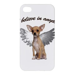 Angel Chihuahua Apple Iphone 4/4s Premium Hardshell Case by Valentinaart