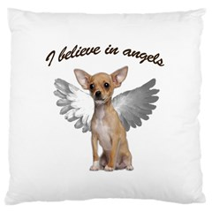Angel Chihuahua Large Cushion Case (one Side) by Valentinaart