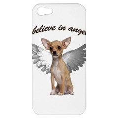 Angel Chihuahua Apple Iphone 5 Hardshell Case by Valentinaart