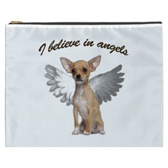 Angel Chihuahua Cosmetic Bag (xxxl)  by Valentinaart