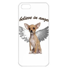 Angel Chihuahua Apple Iphone 5 Seamless Case (white) by Valentinaart