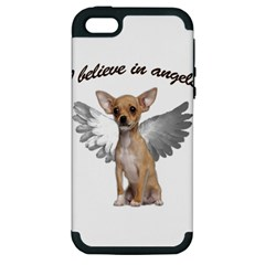 Angel Chihuahua Apple Iphone 5 Hardshell Case (pc+silicone) by Valentinaart