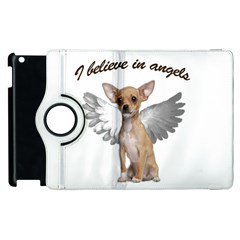 Angel Chihuahua Apple Ipad 2 Flip 360 Case by Valentinaart
