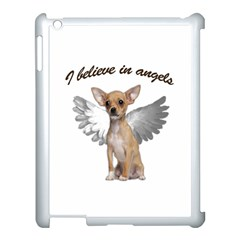 Angel Chihuahua Apple Ipad 3/4 Case (white) by Valentinaart