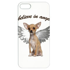 Angel Chihuahua Apple Iphone 5 Hardshell Case With Stand by Valentinaart