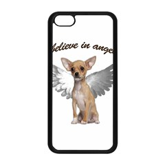 Angel Chihuahua Apple Iphone 5c Seamless Case (black) by Valentinaart
