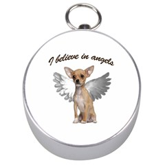 Angel Chihuahua Silver Compasses by Valentinaart