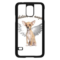 Angel Chihuahua Samsung Galaxy S5 Case (black) by Valentinaart
