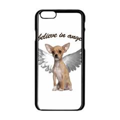 Angel Chihuahua Apple Iphone 6/6s Black Enamel Case by Valentinaart