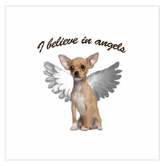 Angel Chihuahua Large Satin Scarf (square) by Valentinaart
