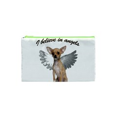 Angel Chihuahua Cosmetic Bag (xs) by Valentinaart