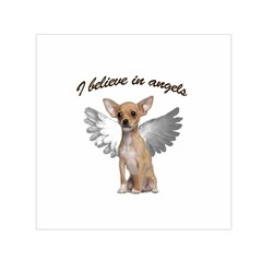 Angel Chihuahua Small Satin Scarf (square) by Valentinaart