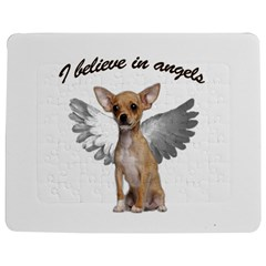 Angel Chihuahua Jigsaw Puzzle Photo Stand (rectangular) by Valentinaart