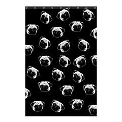 Pug Dog Pattern Shower Curtain 48  X 72  (small)  by Valentinaart