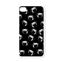 Pug Dog Pattern Apple Iphone 4 Case (white) by Valentinaart