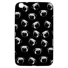 Pug Dog Pattern Samsung Galaxy Tab 3 (8 ) T3100 Hardshell Case  by Valentinaart