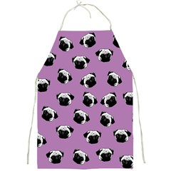 Pug Dog Pattern Full Print Aprons by Valentinaart