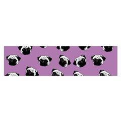 Pug Dog Pattern Satin Scarf (oblong) by Valentinaart