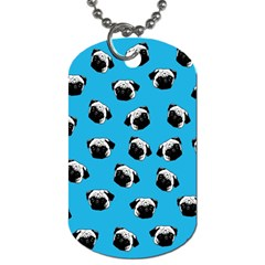 Pug Dog Pattern Dog Tag (one Side) by Valentinaart