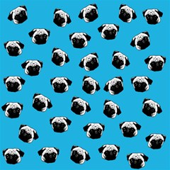 Pug Dog Pattern Canvas 20  X 20   by Valentinaart