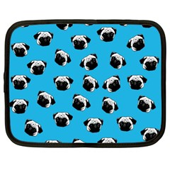 Pug Dog Pattern Netbook Case (xl)  by Valentinaart