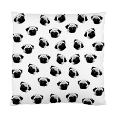 Pug Dog Pattern Standard Cushion Case (one Side) by Valentinaart