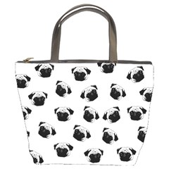 Pug Dog Pattern Bucket Bags by Valentinaart