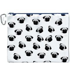 Pug Dog Pattern Canvas Cosmetic Bag (xxxl) by Valentinaart