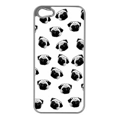 Pug Dog Pattern Apple Iphone 5 Case (silver) by Valentinaart