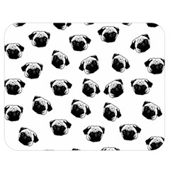Pug Dog Pattern Double Sided Flano Blanket (medium)  by Valentinaart