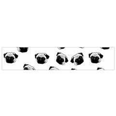 Pug Dog Pattern Flano Scarf (small) by Valentinaart