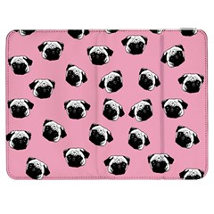 Pug Dog Pattern Samsung Galaxy Tab 7  P1000 Flip Case by Valentinaart