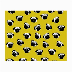 Pug Dog Pattern Small Glasses Cloth by Valentinaart